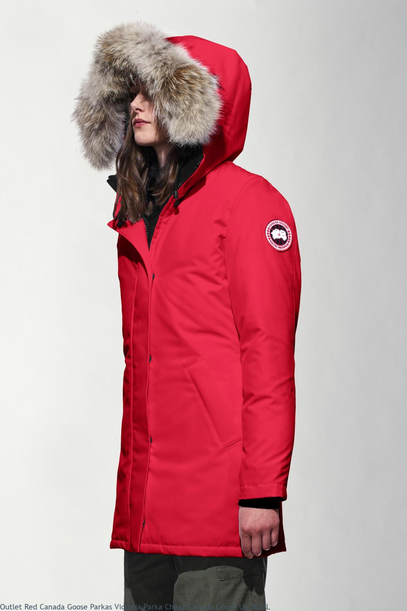 b86db6043b4 Outlet Red Canada Goose Parkas Victoria Parka Cheap Canada Goose Uk 3037L
