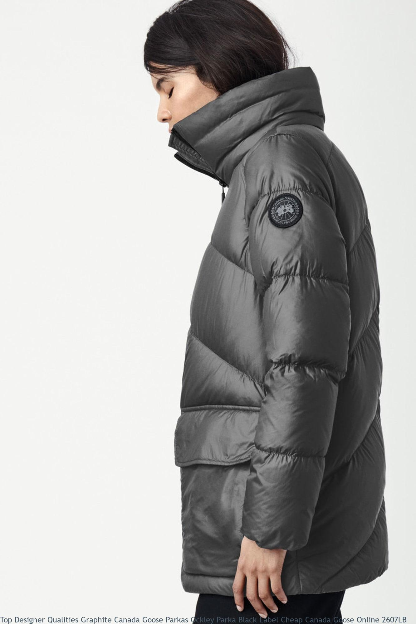 Top Designer Qualities Graphite Canada Goose Parkas Ockley Parka Black Label Cheap Canada Goose Online 2607LB